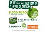 <p> 5000 de euro, 9 x iPod Shuffle , 63 x bax de bere<br /> </p>