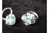 un set de bijuterii (bratara si inel turqoise)<br />