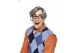 Un costum de scolarita sau un set tocilar compus din peruca + ochelari + palarie absolvent, o pereche ochelari hippy, un set de bratari si coliere fosforescente