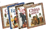 colectia Descopera Lumea: 4 mini enciclopedii: Grecia antica, Roma antica, Egiptul antic si China antica.