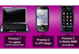 Un Laptop Toshiba Satellite, un Telefon HTC Magic, un Telefon Nokia 5800