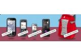 un telefon HTC Magic, un telefon Nokia 3120, un telefon Samsung S3110, un telefon Sony Ericsson W350i, 10 x rucsac Vodafone