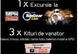 O excursie in Marea Britanie la MPH Show featuring Top Gear Live, 3 x kit de vanator (lasou, tricou,stiker, rama foto, telefon mobil si GPS)