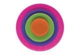 un set de 4 farfurii colorate si vesele La Mediterranea