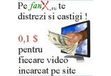 0,1 dolari pentru fiecare video inacarcat pe fanx.ro