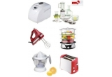 un aparat de preparat paine, un robot de bucatarie, un mixer, un aparat de gatit cu aburi, un storcator de citrice, un prajitor de paine