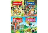un pachet cu 4 carti Animalele, Piticii, Uriasii, Zanele, oferit de Editura Crisan