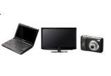un televizor LCD LG, un Notebook Lenovo Ideapad, o camera foto Nikon