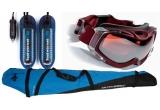 o husa schiuri Outhorn, un incalzitor clapari/boots/bocanci Therm-ic, o pereche de ochelari schi/snowboard SH+