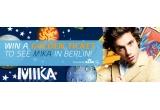 un sejur la Berlin (avion + cazare) + o invitatie pentru doua persoane la concertul Mika + o camera video Samsung + produse promotionale Mika
