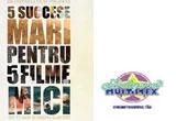"""<span style=""""font-weight: bold;"""">5 DVD-uri  '5 succese mari pentru 5 filme mici'</span><br />"""