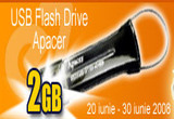 <b>Un USB Flash Drive Apacer HT202 2GB </b>