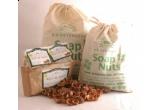 3 x set de nuci de sapun, un saculeț de 1/2 kg de nuci de sapun + un ulei esențial Fares la alegere