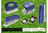 un Capsator 10/5, un Perforator de 15 coli, un Capsator 24/6, un Perforator de 25 de coli, capse 10/5 si 24/6 + un produs surpriza