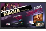 "1 x blu-ray player + film blu-ray/ saptamana, 1 x home theater soundbar cu LCD TV de 81 cm + trilogia ""Stapanul Inelelor"""