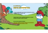 "100 x set produse promotionale (tricou + caciula), 10 x jucarie ""Mascota Strumf"""