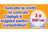3 x cos de cumparaturi de 500 RON