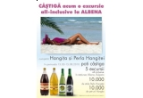 5 x excursie all-inclusive la Albena pentru doua persoane, 10.000 x sticla vin Perla Hangitei 0,75L/1,5L;, 10.000 x pet Hangita 2L