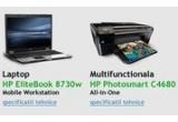 un laptop HP EliteBook 8730w Mobile Workstation, o multifunctionala HP Photosmart C4680 All-in-One