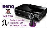 un Proiector 3D BenQ + TV Tuner CADOU