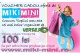 un voucher de 100 ron pentru cumparaturi pe miki-mini.ro, un set parfum Barbie cu un ursulet, o masinuta cu telecomanda