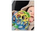jucarie pentru bebelusi O-ball, husa pentru balon cu doua baloane, jucarie alint bebe, un cupon de 25% reducere pentru cumpararea unei biciclete din lemn