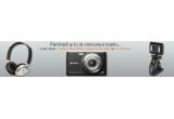 un aparat foto digital Sony DSC-W230B, o pereche de casti Panasonic, o camera web A4Tech